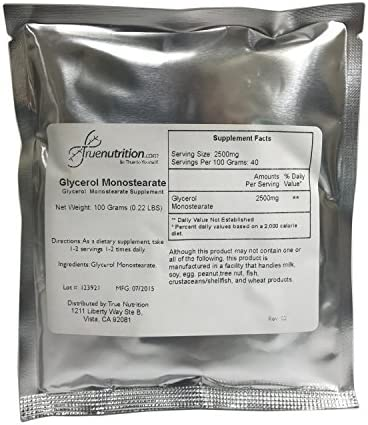 True Nutrition Glycerol Monostearate Powder 100 Gram