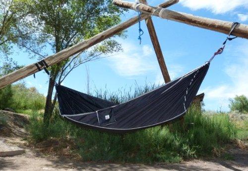 hammock bliss sky bed   hangs like a hammock but sleeps like a bed   unique asymmetrical design creates an amazing lay flat camping hammock sleeping     iloilo hammock bliss sky bed   hangs like a hammock but sleeps      rh   11street my