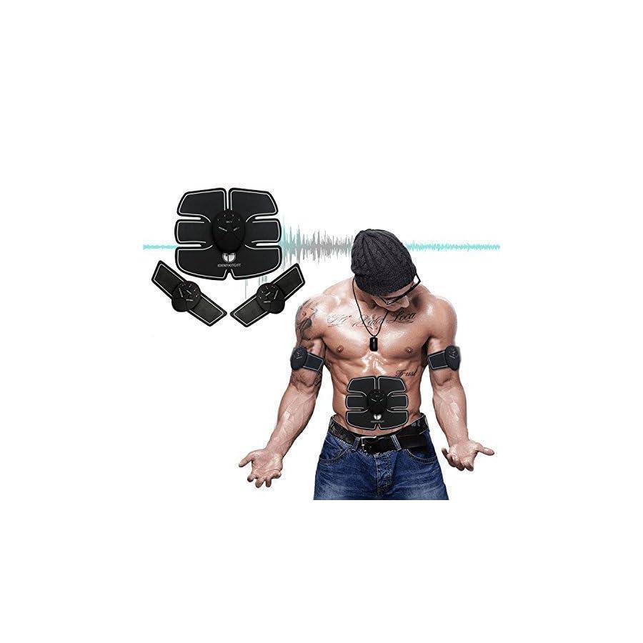 Muscle Toner, IdentikitGift Abdominal Toning Belt , Abs Trainer Wireless Body Gym Workout Home Office Fitness Equipment For Abdomen/Arm/Leg Training Men Women