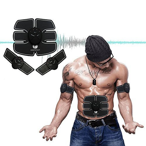 Muscle Toner, IdentikitGift Abdominal Toning Belt , Abs Trainer Wireless Body Gym Workout Home Office Fitness Equipment For Abdomen/Arm/Leg Training Men Women