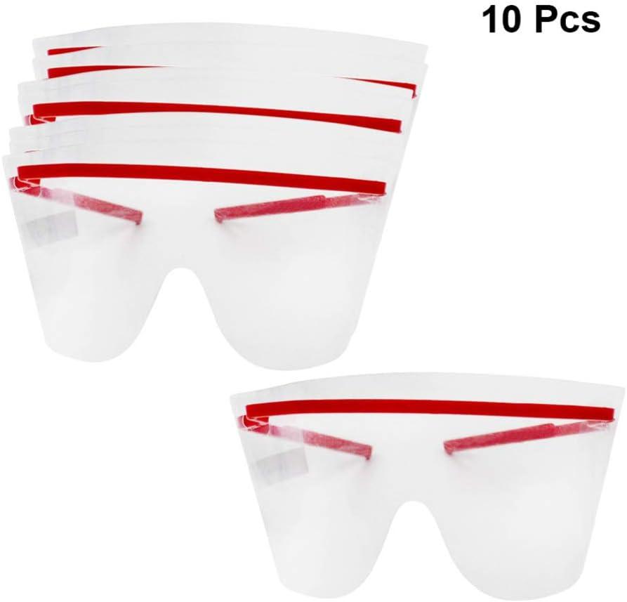 EXCEART 10Pcs Protector Ocular Claro Desechable Médico/Dental Protector Ocular Anti Niebla Gafas de Seguridad Protectoras para Protección Ocular (Color Aleatorio)