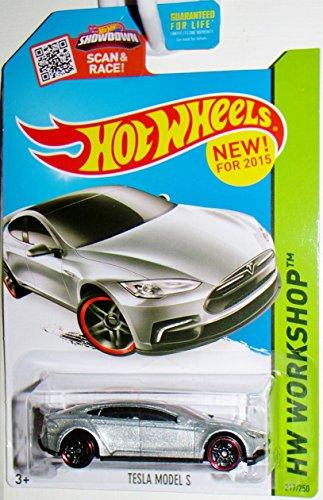 Price comparison product image Hot Wheels 2015HW Workshop Tesla Model S 217/250, Silver