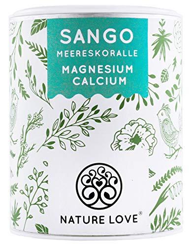 NATURE LOVE® Sango Meereskoralle - 250g Pulver. Natürliche Quelle für Kalzium (20%) und Magnesium (10%) im körpereigenen Verhältnis von 2:1. Hochdosiert und hergestellt in Deutschland