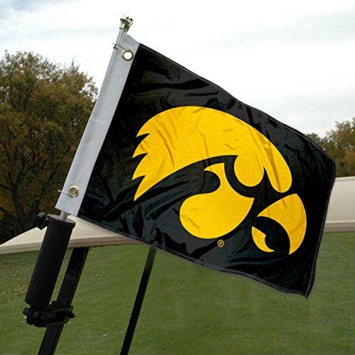 - Iowa Hawkeye Golf Cart and Boat Flag