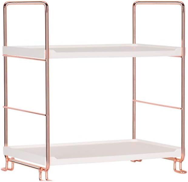 Silver Yje Bathroom Storage Shelf 2-Tier Standing Storage Organiser For Kitchen Bathroom Countertop