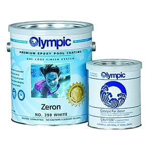 Olympic zeron epoxy pool coating gallon for Epoxy pool paint