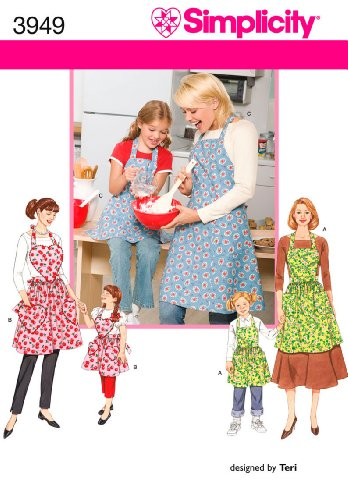 Simplicity Child and Adult Matching Apron Sewing Patterns, Sizes S-L ()
