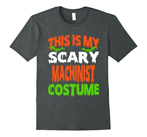 Father Daughter Halloween Costumes (Mens MACHINIST - SCARY COSTUME HALLOWEEN SHIRT Medium Dark Heather)