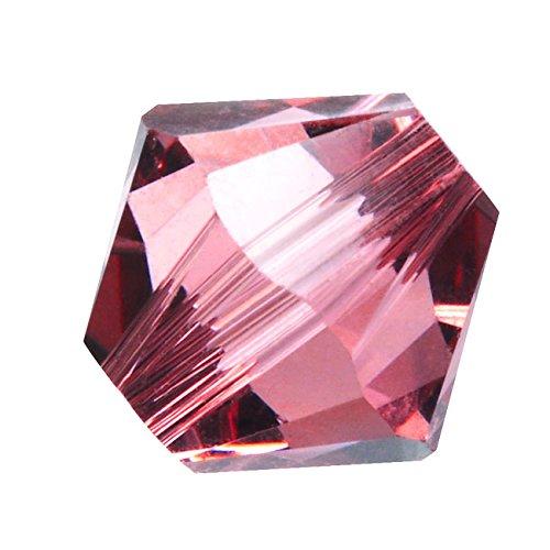 (Swarovski Crystal, 5328 Bicone Beads 4mm, 24 Pieces, Blush)