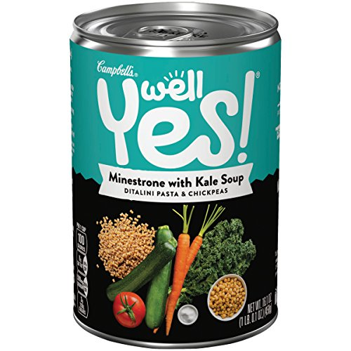 Well Yes! Soup, Minestrone with Kale, 16.1 oz. (Pack of 12) (Packaging May Vary) (Kale Soup)