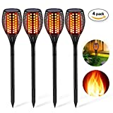 Solar Torch Light, Aityvert Outdoor Solar Flame Light Garden Waterproof IP65 Landscape Decoration Lighting Dusk to Dawn Auto On/Off Security Lawn Light For Pathway Patio Deck Yard Driveway 4 Pack Review