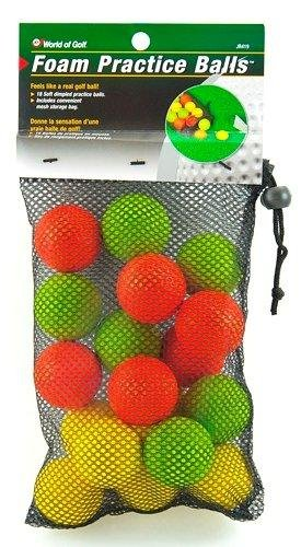 022275004194 - Jef World of Golf Gifts and Gallery, Inc. Foam Practice Balls (Multi-Color, Set of 18) carousel main 0