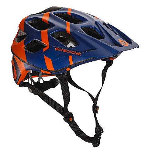 661 SixSixOne Recon MTB Bicycle Helmet (CPSC) - NAVY/ORANGE - Small/Medium (S/M) (CLOSEOUT) ()