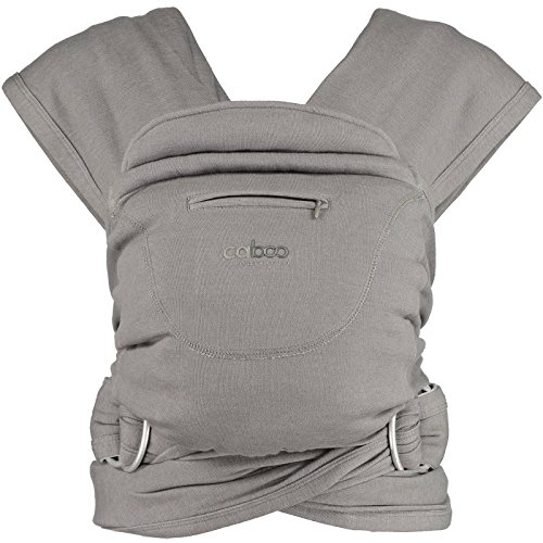 New 2015 Caboo Organic Baby Carrier, Steel Marl Close Parent