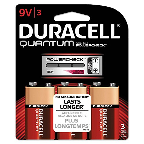 Quantum Alkaline Batteries With Duralock Power Preserve Technology, 9v, 3/pk By: Duracell by Reg