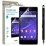 Sony Xperia Z2 Screen Protector Sentey® Clear Hd High Definition 0.12mm (Pack of 3) Ls-14402 Bundle with Free Metal Stylus Touch Screen Pen {Lifetime Warranty}