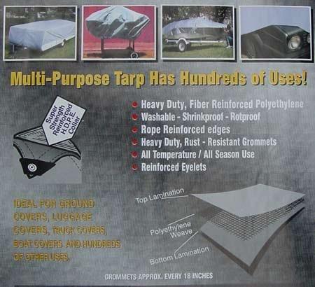 Heavy Duty Silver Tarp 40'x60'