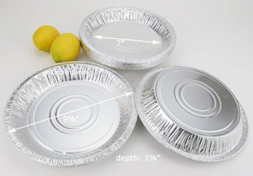 Disposable/reusable Aluminum 9 5/8 inch Deep Pie Pan #1042 - 30 Oz. Capacity (500)
