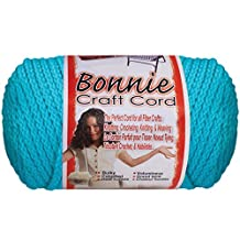Bonnie Macrame Neon Craft Cord 4mmx100yd-Arctic Blue