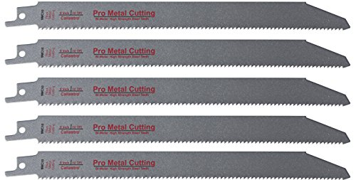 Long Blade (9-Inch Thick Metal Cutting Reciprocating / Sawzall Saw Blades (10 TPI) Made of Long Lasting Bi-Metal (HSS teeth bonded to HCS body) - 5 pack)