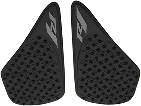 Tank Traction Side Pad Gas Knee Grip Fit For Yamaha YZF R1 2007-2008 Black
