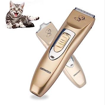 LX&OOSM Cortapelos Eléctrico para Mascotas Kit De Belleza Profesional para Gatos Y Perros Recortador Inalámbrico De