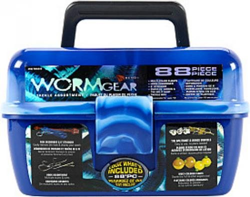 South Bend Wormgear Tackle Box-88 Piece (Blue)