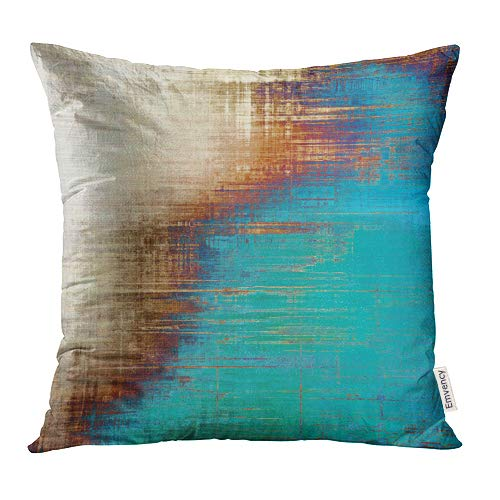 Emvency Throw Pillow Covers Decorative (Beige) Abstract Retro Old Fashioned Patterns Yellow Beige Brown Green Blue White 20x20 Inch Cushion Pillowcase Sofa Square Print (Unique Sofa Covers)