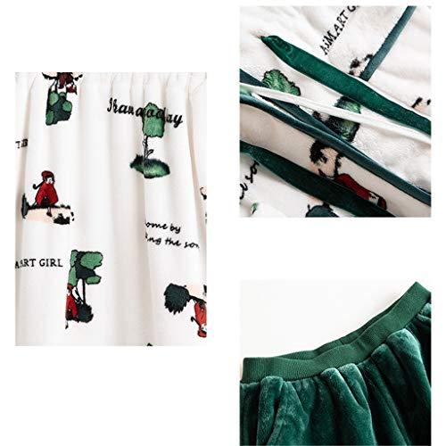 size Servicio Padres Domicilio Damas Cálida Juego De Piezas xl Mujer Hijos Larga E Female Sección Dos Lilongjiao Camisón Para Niños Pijamas Traje A Falda Camisón aB6pPxwpIq
