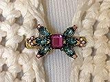 The mattie Multi Colored Stone Sweater Clip Brooch