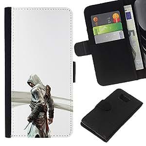 YiPhone /// Tirón de la caja Cartera de cuero con ranuras para tarjetas - Asesinos Creeed - Samsung ALPHA G850