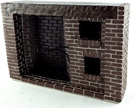 Town Square Miniatures Colonial Fieldstone Walk in Fireplace