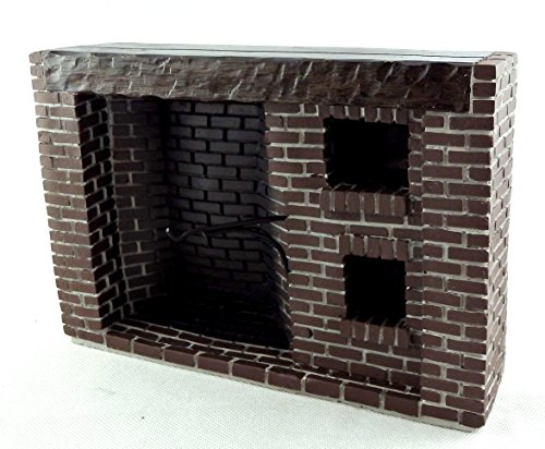 Town Square Miniatures Colonial Fieldstone Walk in Fireplace ()