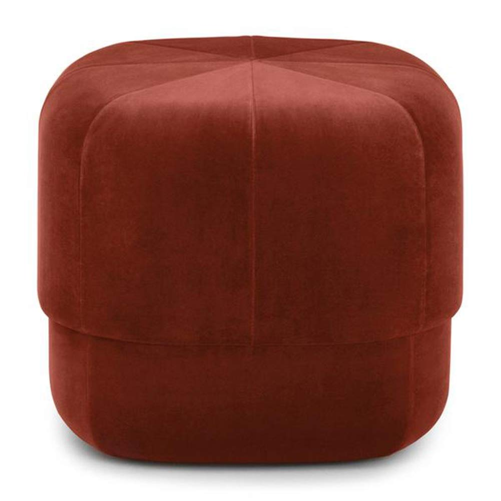 orange-red 4040 cm ZHAOYONGLI Footstools,Otools Porto Brushed Suede Drum Pouffe - Luxury Cylindrical Footstool - Round Footrests (color   Purple, Size   40  40 cm)