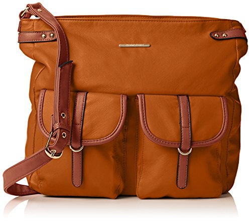 Swankyswans Gigi School Bag Pu Leather - Bolso bandolera Mujer marrón (Tan)