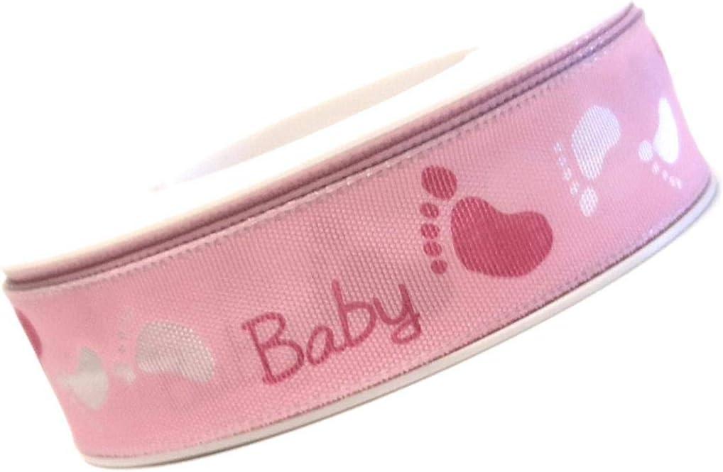 GEBURTSTAG rosa - 088 Baby Dekoband Geschenkband SCHLEIFENBAND 20m x 25mm GEBURT 10843 Taufe