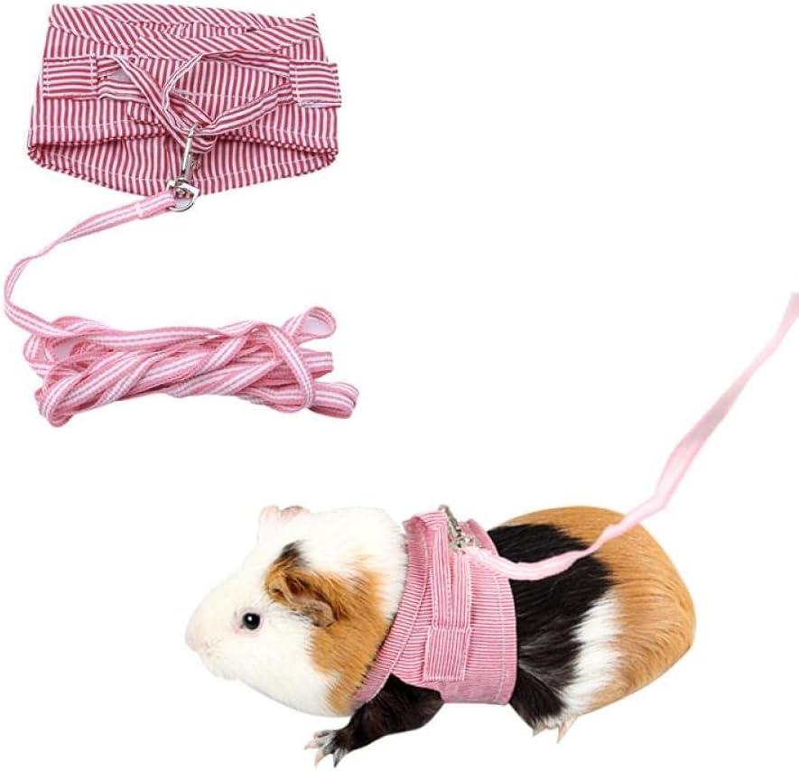 TOSSPER 1 Rosa Hamster Conejo arnés y Correa Conjunto Ferret ...