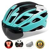 Cheap Shinmax Adults Bike Helmet, MTB Bike Helmet Men With Removable Shield Visor/Detachable Safty Rear Led Light