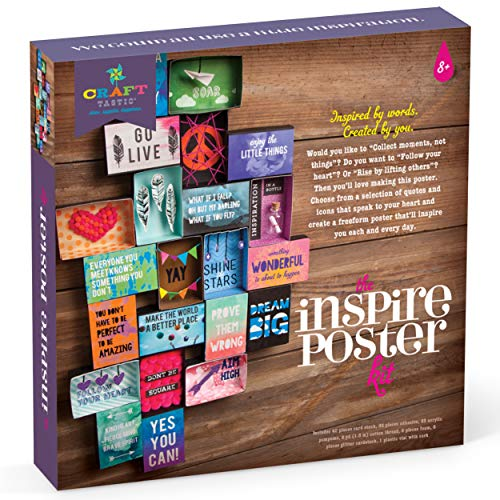 Craft-tastic - Inspire Poster Kit - Design a One-of-a-Kind Freeform Poster