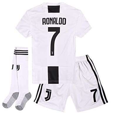 42dc81970 Cyllr Juventus Home Kids/Youth 2018-2019 Season. #7 Ronaldo Socce Jersey
