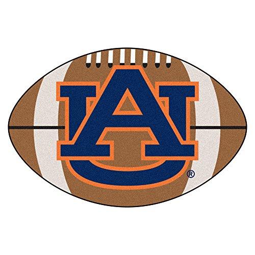 (FANMATS NCAA Auburn University Tigers Nylon Face Football Rug)