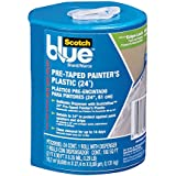 ScotchBlue Pre-taped Painter's Plastic, Unfolds to 24-Inches by 30-Yard