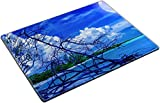 MSD Place Mat Non-Slip Natural Rubber Desk Pads design 20932836 ll Beach at night with a full moon creating reflections on the ocean and a dead tree