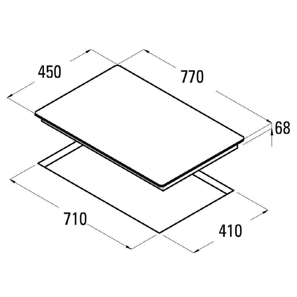 Hilight vitrocerámica Domino Gigant Dos Círculo Zona de cata ...