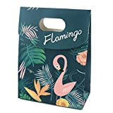Zeker Gift Bags Fashion Flamingo Party Favor Bag with Handles for Christmas Shopping Wedding Retail Mechandise …