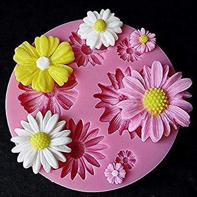 Molde de silicona con diseño de flores en 3D para tartas, dulces ...