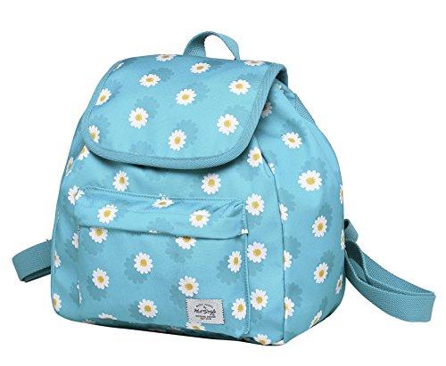 MIETTE Mini Small Purse Backpack Cute for Women, Daisies, LightBlue
