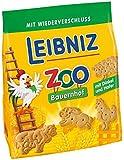 """Leibniz ZOO Bauernhof, 4er Pack — Mini-Kekse """"Tiere"""" — Kinderkekse mit Dinkel und Hafer —  Keks zum Spielen — Kinderkekse in der Vorrats-Box (4 x 125 g)"""