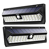 LITOM Solar Lights Outdoor 42 LED, Adjustable Lighting Time Solar Motion Sensor Light with 270° Wide Angle and Waterproof Design, Wireless Solar Lighting for Front Door, Yard, Garage, Deck (2 Pack)