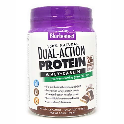 Bluebonnet Nutrition Dual Action Protein Powder, Chocolate Flavor, 1.05 Pound